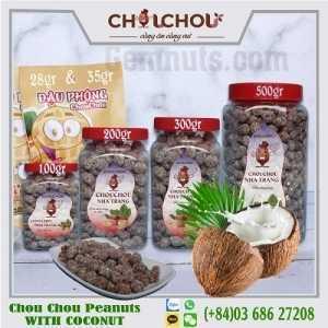 chou chou peanuts with coconut