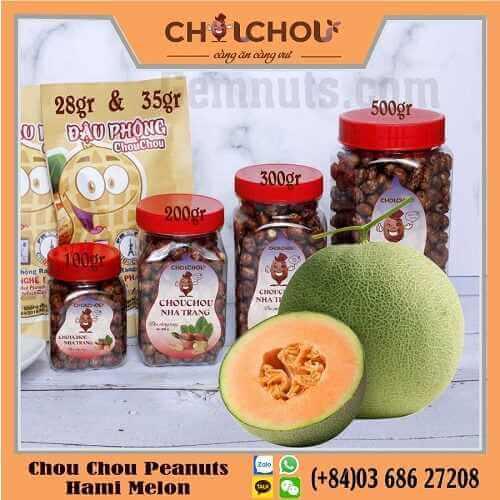 chou chou peanuts with Hami Melon