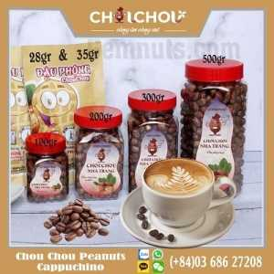 chou chou peanuts with cappuchino